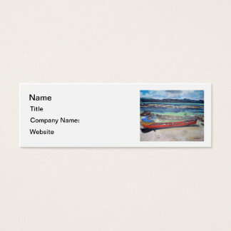 Canoe & Raft on Shell Island Business Card