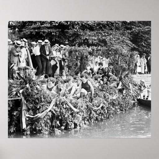 Canoe Regatta and Water Carnival: 1924 Poster
