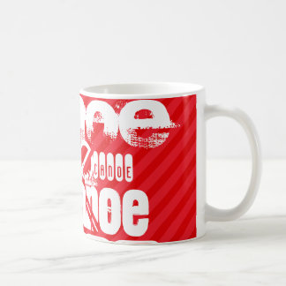 Canoe; Scarlet Red Stripes Coffee Mug