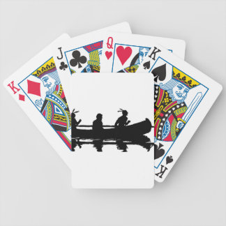 Canoe Silhouette Bicycle Playing Cards