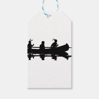 Canoe Silhouette Gift Tags