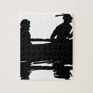 Canoe Silhouette Jigsaw Puzzle