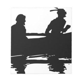 Canoe Silhouette Notepad