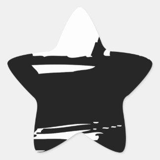 Canoe Silhouette Star Sticker