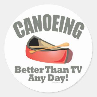 Canoeing Classic Round Sticker