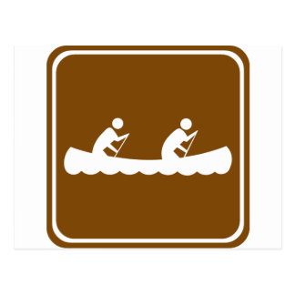 Canoeing Highway Sign Postcard