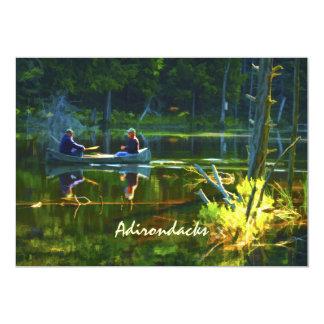 Canoeing in the Adirondacks 13 Cm X 18 Cm Invitation Card