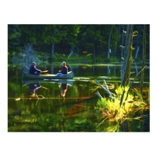 Canoeing in the Adirondacks Postcard