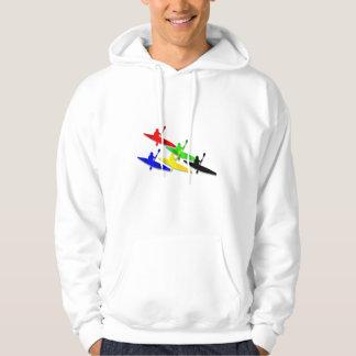 Canoeing Kyaking Canoe kyak water sports Hooded Sweatshirts