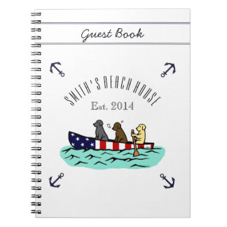 Canoeing Labrador Beach House Guest Book Notebook