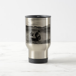 Canoeing on Junjik River Travel Mug