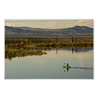 Canoeing on Kanuti Lake Poster