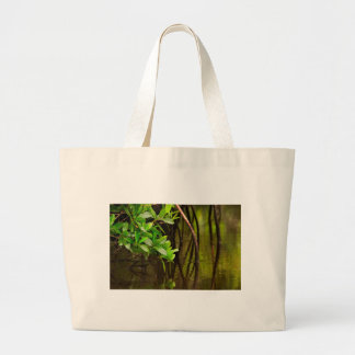 Canoeing Through Quiet Mangroves Large Tote Bag
