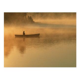 canoeist, Algonguin Park, Ontario, Canada. Postcard