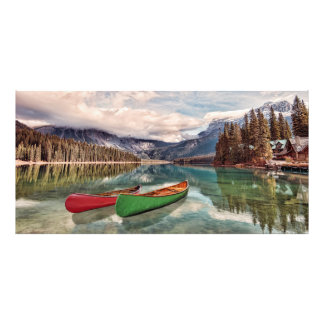 Canoes at Emerald Lake Art Photo