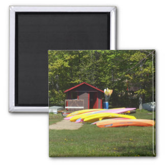 Canoes Beached Square Magnet