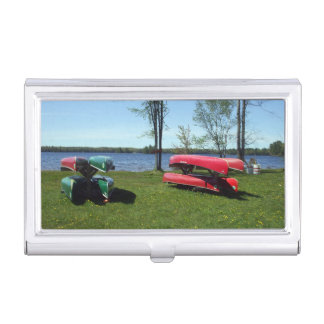 Canoes Business Card Holder