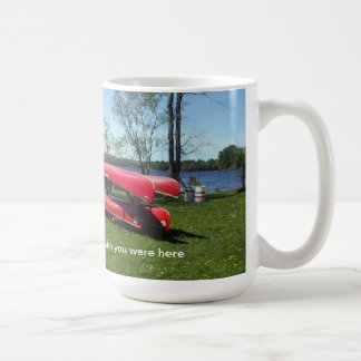 Canoes on a Beach Coffee Mug