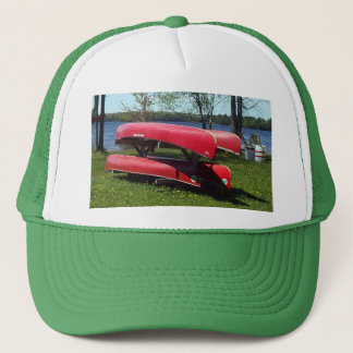 Canoes on a Sunny Day Trucker Hat