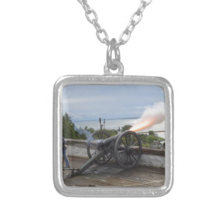 Canon Firing Silver Plated Necklace