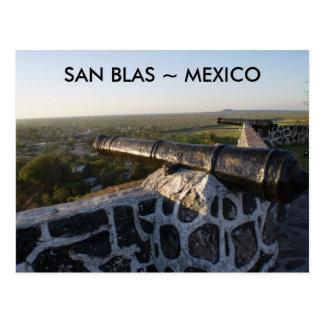 Canons at San Blas Mexico Postcard