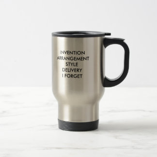 Canons of Rhetoric Travel Mug
