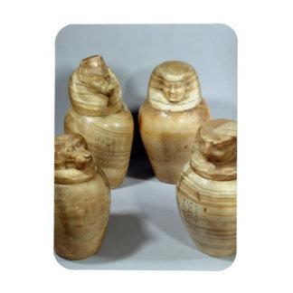 Canopic jars of Hor-ir-aa, Saite (alabaster) Rectangular Photo Magnet