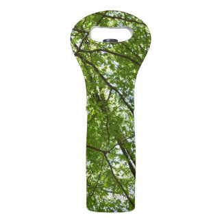 Canopy of Spring Leaves Green Nature Scene Wine Bag