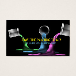 Cans of Pouring Paint Painter Business Card