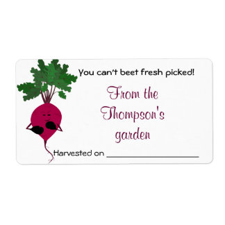 Can't Beet Fresh Vegetables Avery Label Shipping Label
