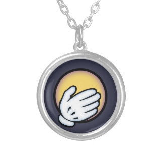 Can't Believe It Moji Silver Plated Necklace
