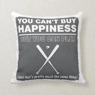 Can't Buy Happiness Baseball Cushion
