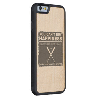 Can't Buy Happiness Baseball Maple iPhone 6 Bumper Case