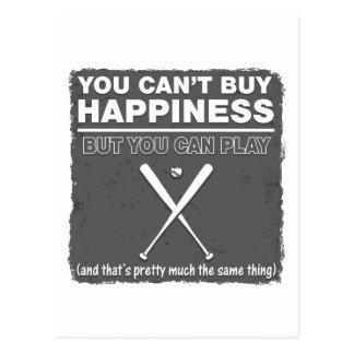 Can't Buy Happiness Baseball Postcard