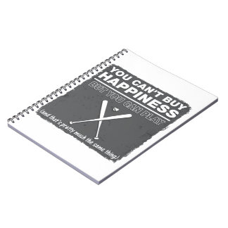 Can't Buy Happiness Baseball Spiral Note Book