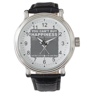 Can't Buy Happiness Baseball Wrist Watch