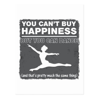 Can't Buy Happiness Dance Postcard