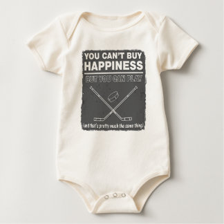 Can't Buy Happiness Hockey Baby Bodysuit