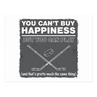 Can't Buy Happiness Hockey Postcard