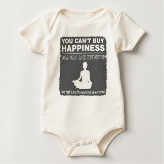 Can't Buy Happiness Meditate Baby Bodysuit