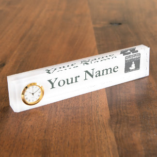 Can't Buy Happiness Meditate Desk Name Plate