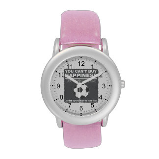 Can't Buy Happiness Soccer Wristwatch