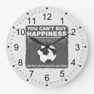 Can't Buy Happiness Soccer Wall Clock