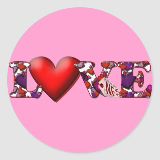 Can't Buy Me Love! Round Stickers