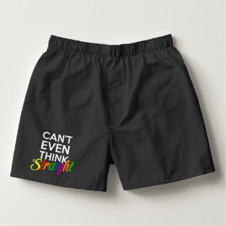 can't even think straight gay pride boxers
