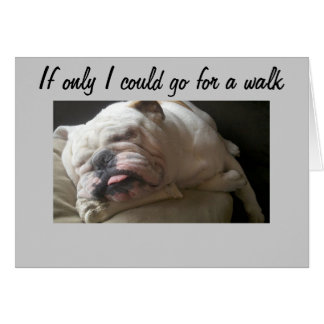 CAN'T GO FOR A WALK-TOO SAD CARD