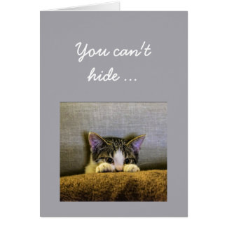 Can't hide from  50th Birthday Fun Kitten Card
