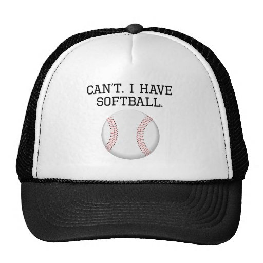 Can't I Have Softball Mesh Hat