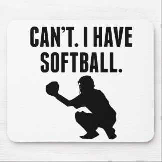 Can't I Have Softball Mouse Pads
