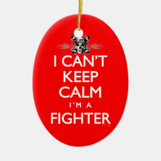 Can't Keep Calm MMA Fighter Ceramic Ornament